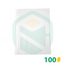 Saco Plastico A4 furação universal 11 Furos - 100 Unid.