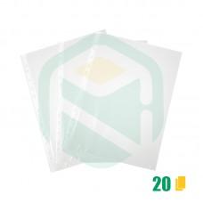 Saco Plastico A4 furação universal 11 Furos - 20 Unid.
