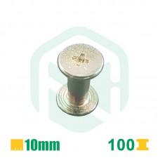 Parafusos para encadernação, 10mm - 100 Unid.