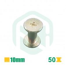 Parafusos para encadernação, 10mm - 50 Unid.