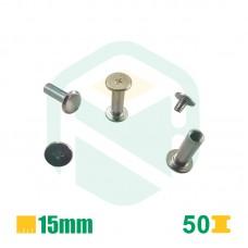 Parafusos para encadernação, 15mm - 50 Unid.