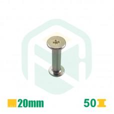 Parafusos para encadernação, 20mm - 50 Unid.