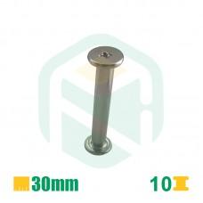 Parafusos para encadernação, 30mm - 10 Unid.