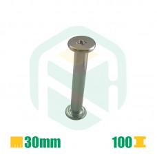 Parafusos para encadernação, 30mm - 100 Unid.