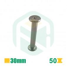 Parafusos para encadernação, 30mm - 50 Unid.