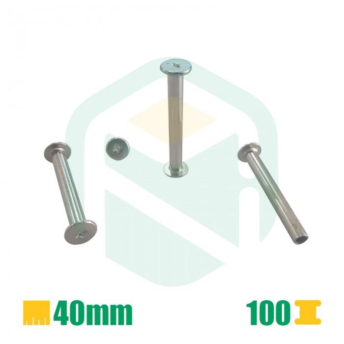 Parafusos para encadernação, 40mm - 100 Unid.