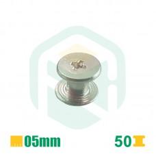 Parafusos para encadernação, 5mm - 50 Unid.
