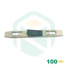 Prendedores De Papel Para Pastas Registradoras AZ - 100 Unid.
